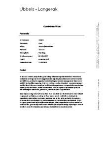 Curriculum Vitae. Personalia. Profiel. Adres: Essesteijnstraat 145. Telefoonnummer: Geboortedatum: