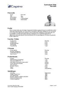 Curriculum Vitae Rob Vonk