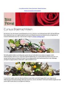 Cursus Bloemschikken Nieuw Assortiment Agenda Workshops. Klik hier om de online versie te bekijken