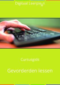 Cursusgids - Gevorderden lessen