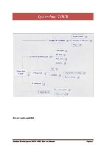 Cyberdam TOUR. Kees van Haaster, april, Handout Simulatiegame TOUR WSG - Kees van Haaster Pagina 1