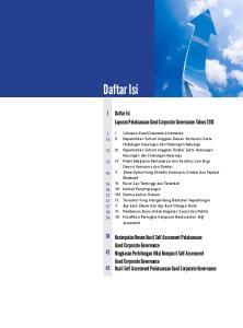 Daftar Isi. Daftar Isi. Laporan Pelaksanaan Good Corporate Governance Tahun 2013