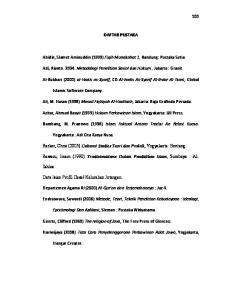 DAFTAR PUSTAKA. Abidin, Slamet Aminuddin (1999) Fiqih Munakahat 1, Bandung: Pustaka Setia