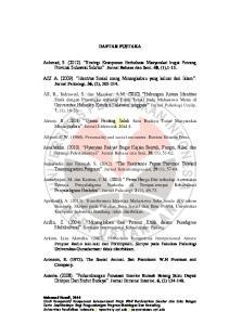 DAFTAR PUSTAKA. Afif. A. (2009). Identitas Sosial orang Minangkabau yang keluar dari Islam. Jurnal Psikologi. 36, (2),