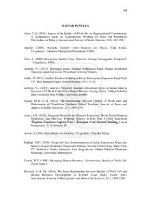 DAFTAR PUSTAKA. Algifari. (2003). Statistika Induktif Untuk Ekonomi dan Bisnis, Edisi Kedua, Yogyakarta : Akademi Manajemen Perusahaan YKPN