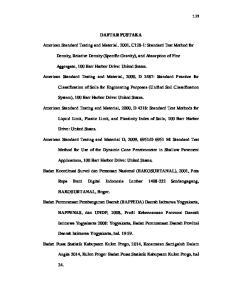 DAFTAR PUSTAKA. American Standard Testing and Material. 2001, C128-1: Standard Test Method for