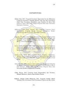 DAFTAR PUSTAKA. Azheri, Bursya, 2012, Corporate Social Responsibility dari Voluntary Menjadi Mandatory, Jakarta: Raja Garfindo Persada