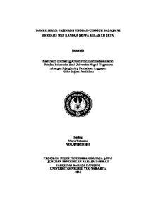 DAMEL MEDIA PASINAON UNGGAH-UNGGUH BASA JAWI BERBASIS WEB KANGGE SISWA KELAS XII SLTA SKRIPSI
