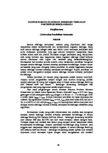 DAMPAK SARANA OLAHRAGA REKREASI TERHADAP PARTISIPASI BEROLAHRAGA. Mudjihartono. (Universitas Pendidikan Indonesia) Abstrak