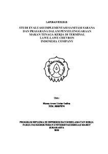 DAN PRASARANA DALAM PENYELENGGARAAN INDONESIA COMPANY