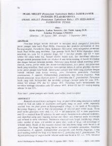 dan Totok Agung D.H. FakultasPerlanian I-INSOED (Diterima : 30 Agustus2001, disetujui : 3 September 2001) Djol