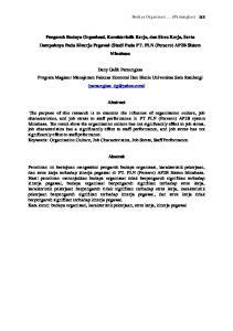 Dany Galih Pamungkas Program Magister Manajemen Fakutas Ekonomi Dan Bisnis Universitas Sam Ratulangi