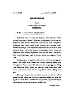 DASP Jakarta, 11 Februari 2002 S U R A T E D A R AN. Kepada SELURUH PESERTA KLIRING DI INDONESIA