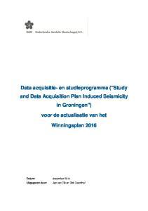 Data acquisitie- en studieprogramma (