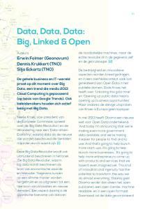 Data, Data, Data: Big, Linked & Open