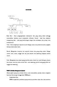 DATABASE. Basis Data : Suatu pengorganisasian sekumpulan data yang saling terkait sehingga