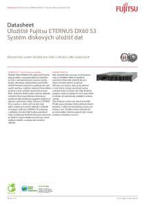 Datasheet Úložiště Fujitsu ETERNUS DX60 S3 Systém diskových úložišť dat