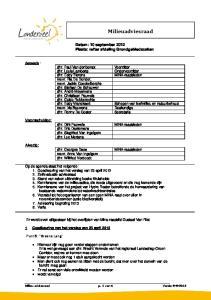 Datum: 10 september 2012 Plaats: refter afdeling Grondgebiedszaken