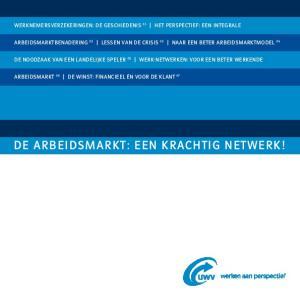 De arbeidsmarkt: een krachtig netwerk!