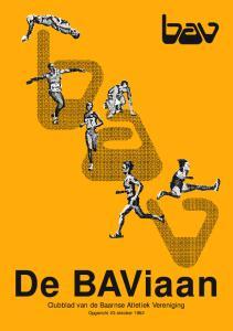 De BAViaan Clubblad van de Baarnse Atletiek Vereniging