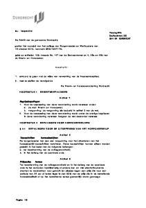 De Drank- en horecaverordening Dordrecht. Artikel 1