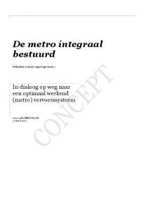 De metro integraal bestuurd