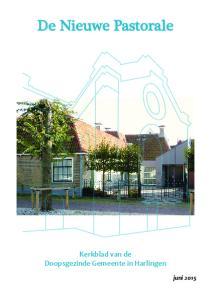 De Nieuwe Pastorale. Kerkblad van de Doopsgezinde Gemeente in Harlingen