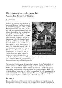 De ontstaansgeschiedenis van het Gezondheidscentrum Rhenen