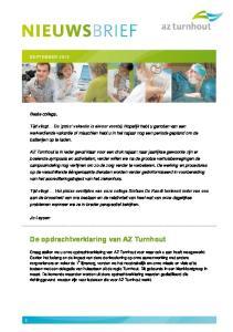 De opdrachtverklaring van AZ Turnhout. Beste collega,