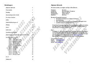 De scènes in het kort 8 Een musical basispakket bestaat uit: Een papieren tekstboek en een digitaal tekstboek Rollen 10 Een handleiding