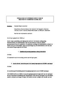 De secretaris geeft toelichting bij het toewijzingsreglement van de OCMW-woningen