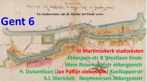 De stadsvesten van de Byloke tot Einde were. Gent 6