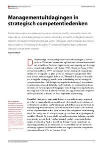 De toekomstige concurrentiepositie voor ondernemingen is onvoorspelbaar