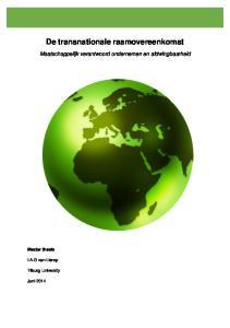 De transnationale raamovereenkomst