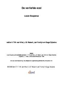De verliefde ezel. Louis Couperus. editie H.T.M. van Vliet, J.B. Robert, Jan Fontijn en Oege Dijkstra