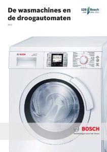 De wasmachines en de droogautomaten