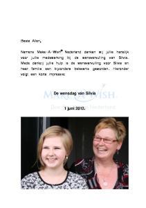 De wensdag van Silvia 1 juni 2012