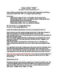 Debat Istilah Allah Dr. Steven E. Liauw vs John Gersom, S. Th