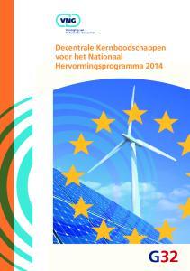 Decentrale Kernboodschappen voor het Nationaal Hervormingsprogramma 2014
