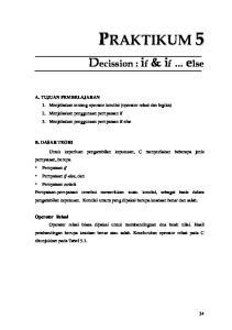 Decission : if & if else