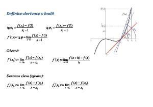 Definice derivace v bodě