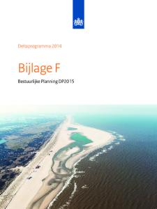 Deltaprogramma Bijlage F. Bestuurlijke Planning DP2015