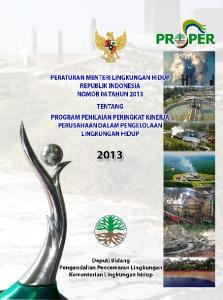 DENGAN RAHMAT TUHAN YANG MAHA ESA MENTERI LINGKUNGAN HIDUP REPUBLIK INDONESIA,