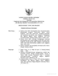 DENGAN RAHMAT TUHAN YANG MAHAESA PRESIDEN REPUBLIK INDONESIA,