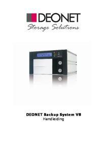 DEONET Backup System V8 Handleiding