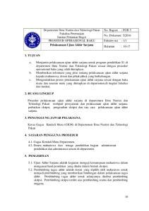Departemen Ilmu Nutrisi dan Teknologi Pakan No. Bagian : POB 5 Fakultas Peternakan Institut Pertanian Bogor
