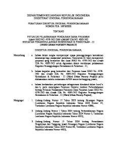 DEPARTEMEN KEUANGAN REPUBLIK INDONESIA DIREKTORAT JENDERAL PERBENDAHARAAN