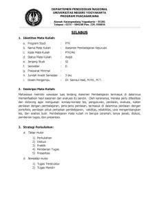 DEPARTEMEN PENDIDIKAN NASIONAL UNIVERSITAS NEGERI YOGYAKARTA PROGRAM PASCASARJANA