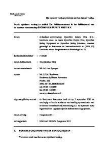 Derde openbare verslag ex artikel 73a Faillissementswet in het faillissement van de besloten vennootschap SPOORFLEX SAFETY FIRST B.V