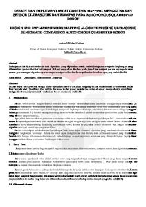 DESAIN DAN IMPLEMENTASI ALGORITMA MAPPING MENGGUNAKAN SENSOR ULTRASONIK DAN KOMPAS PADA AUTONOMOUS QUADRUPED ROBOT